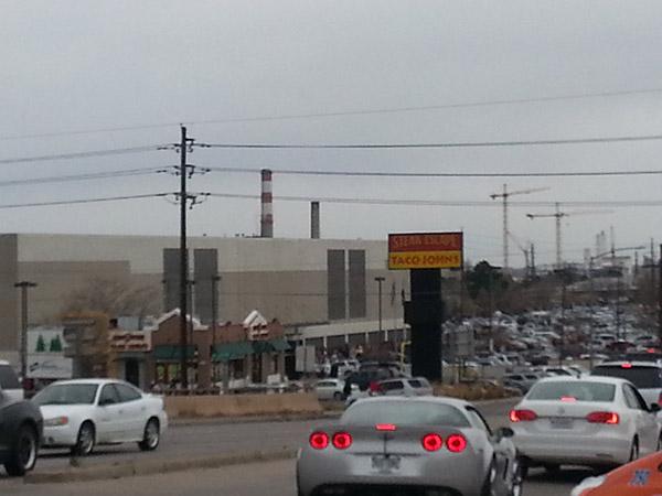 Roads approaching Denver Mart were like virtual parking lots.